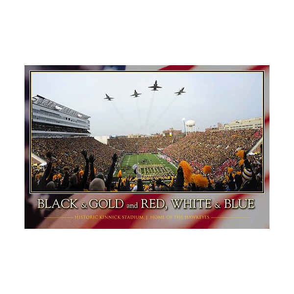 Iowa Hawkeyes Fly Over Kinnick Poster