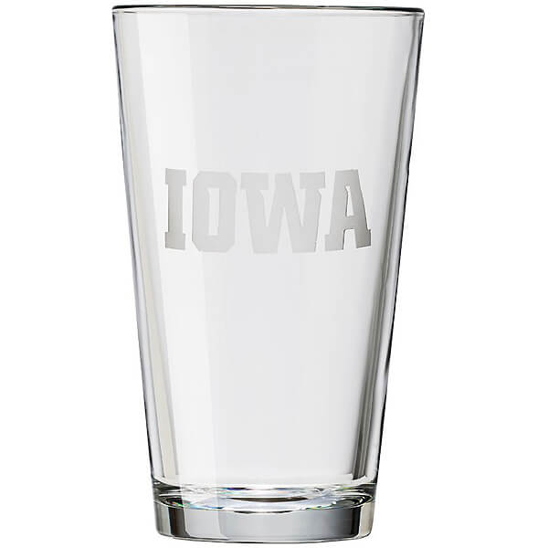 Iowa Hawkeyes IOWA Pint Glass