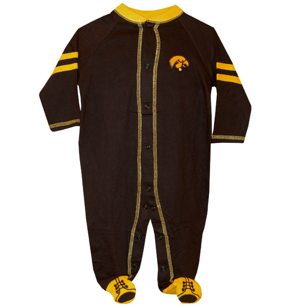 Iowa Hawkeyes Infant Black Romper