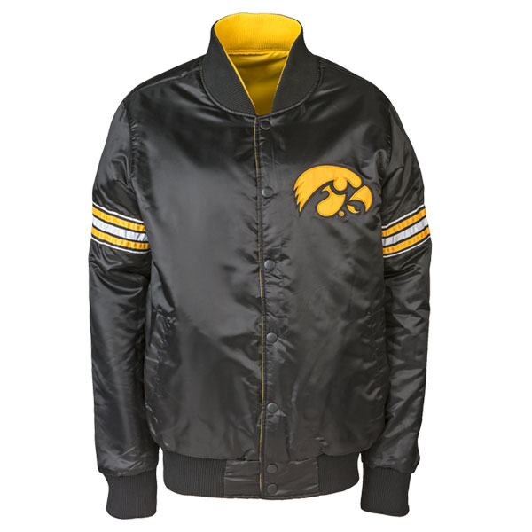 Iowa Hawkeyes Satin Reversible Jacket