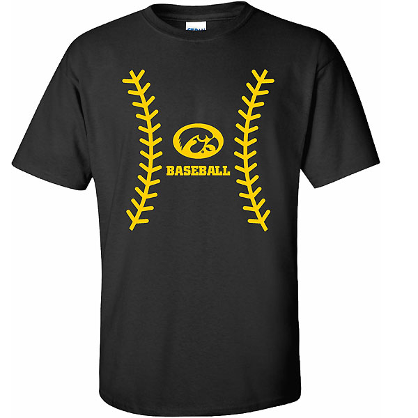 Iowa Hawkeyes Baseball Seams Tee