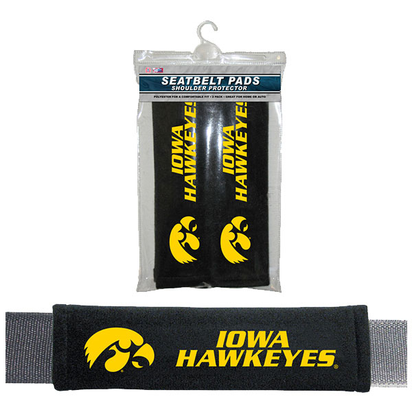 Iowa Hawkeyes Seatbelt Pads