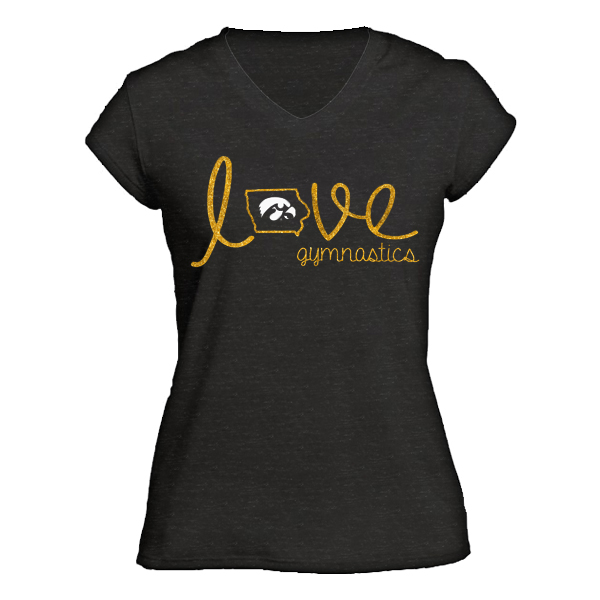 Iowa Hawkeyes Junior Gymnastics Tee