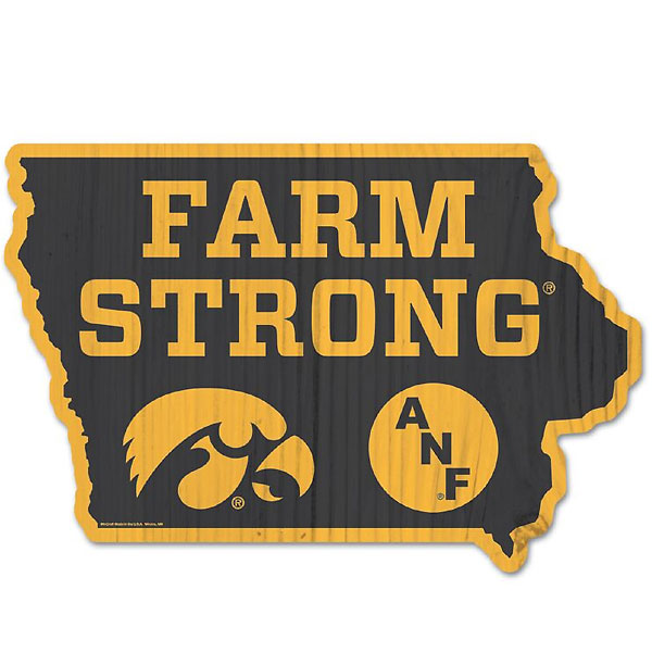 Iowa Hawkeyes ANF State Wood Sign