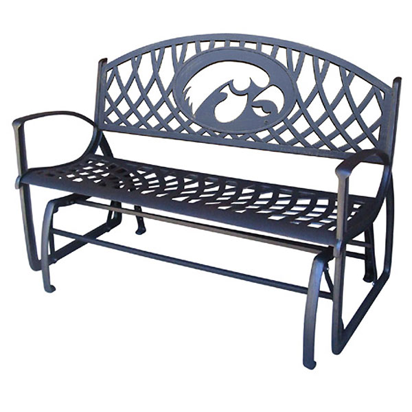 Iowa Hawkeyes Glider Bench