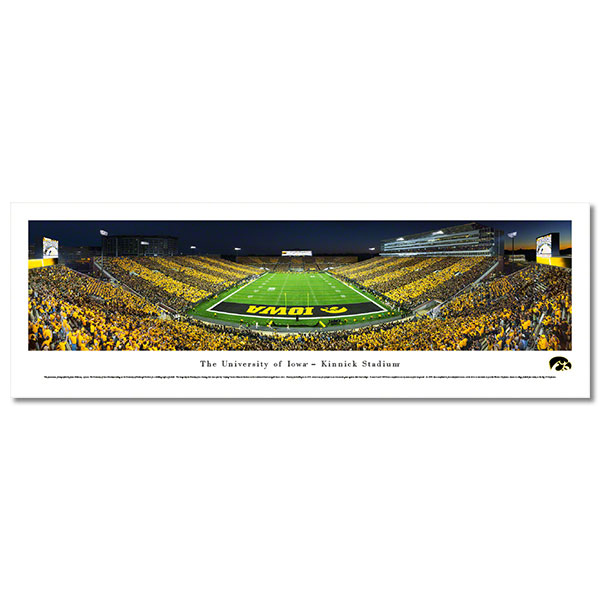 Iowa Hawkeyes Panoramic Picture - Kinnick Stadium Football - Shrink Wrap