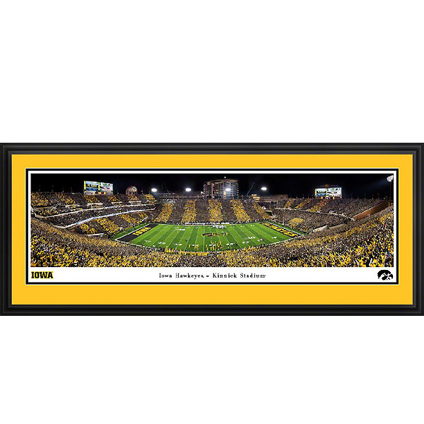 Iowa Hawkeyes 2019 Panoramic Picture - Kinnick Stadium at Night - Deluxe Frame