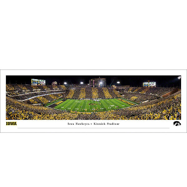 Iowa Hawkeyes 2019 Panoramic Picture - Kinnick Stadium at Night - Shrink Wrap