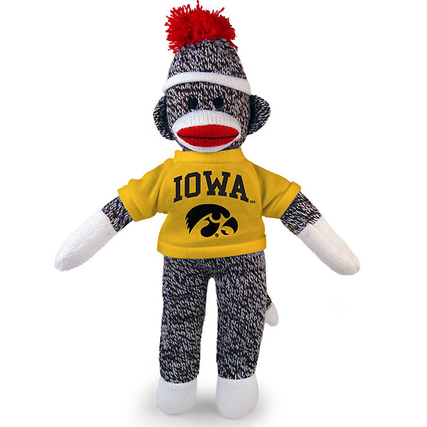 Iowa Hawkeyes Sock Monkey Plush
