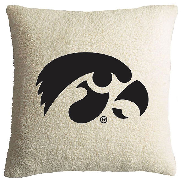 Iowa Hawkeyes Sherpa Pillow