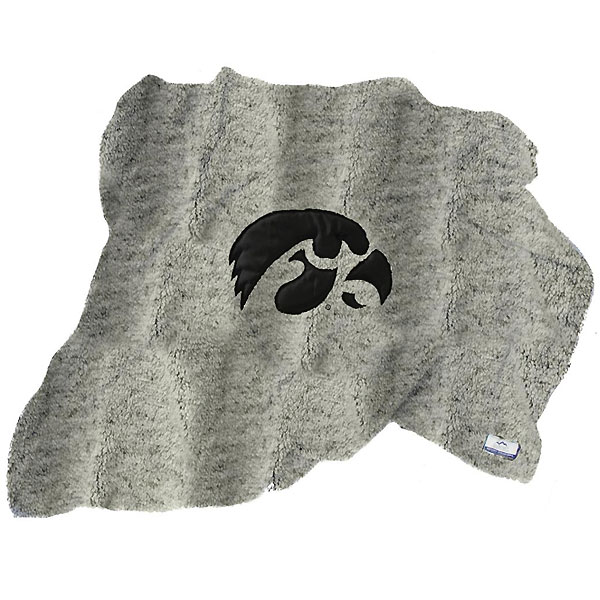 Iowa Hawkeyes Sherpa with Fleece Blanket