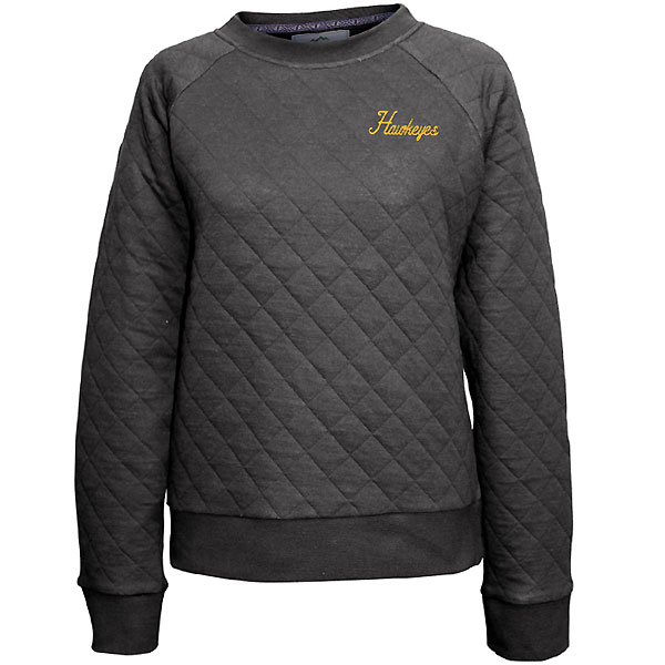 Iowa Hawkeyes Women's Quilted Crew