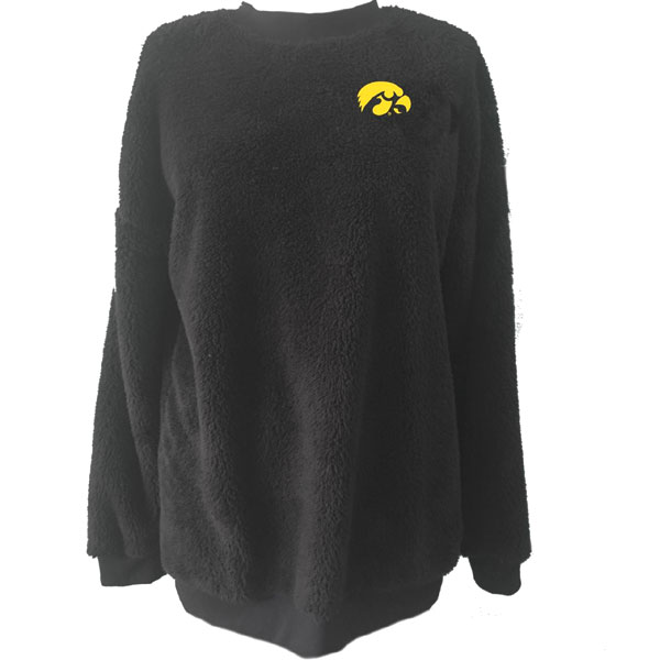 Iowa Hawkeyes Women's Plush Slouchy Crew