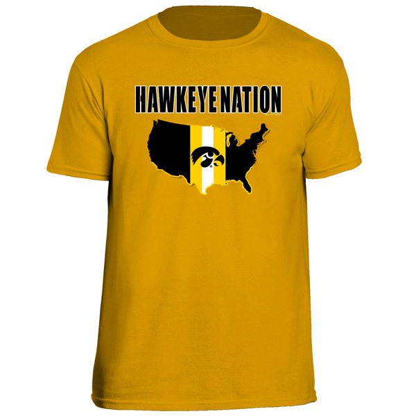 Iowa Hawkeyes Stripe Nation Tee