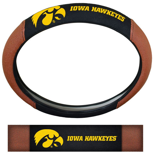 Iowa Hawkeyes Pigskin Steering Wheel Cover