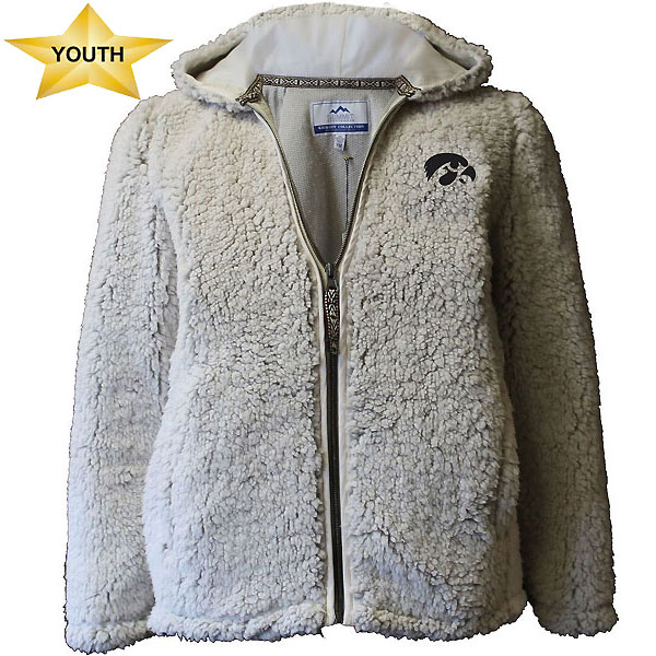 Iowa Hawkeyes Youth Sherpa Full Zip Jacket
