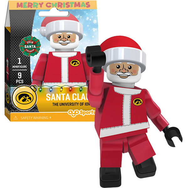 Iowa Hawkeyes Santa Clause Figurine