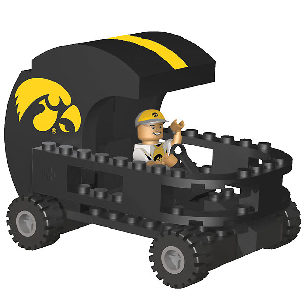 Iowa Hawkeyes Helmet Cart w/ Superfan