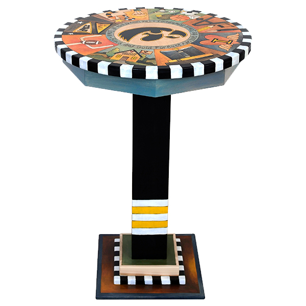 Iowa Hawkeyes Custom Art Table
