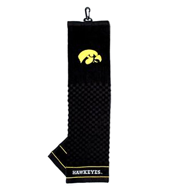 Iowa Hawkeyes Woven Golf Towel