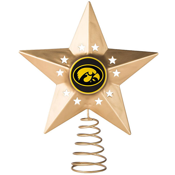 Iowa Hawkeyes Metal Star Tree Topper