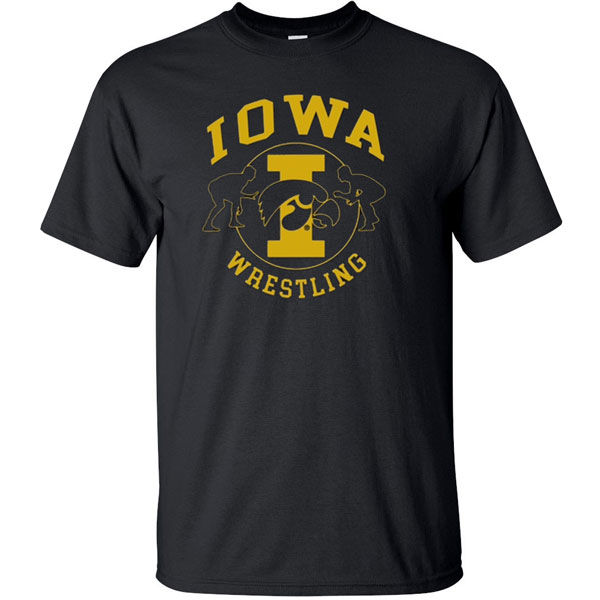 Iowa Hawkeyes Wrestling Circle Center Tee