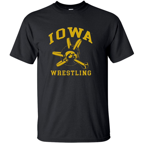 Iowa Hawkeyes Wrestling Headgear Tee