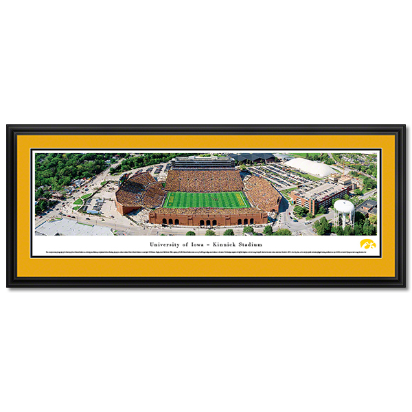 Iowa Hawkeyes Panoramic Picture - Kinnick Stadium - Deluxe Frame