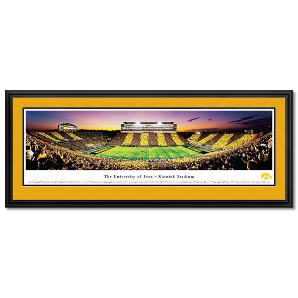 Iowa Hawkeyes Panoramic Picture - University of Iowa Football Stadium - Deluxe Frame