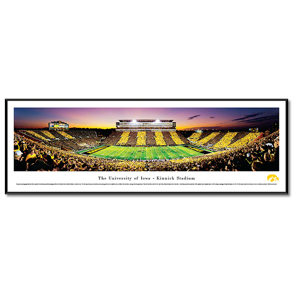 Iowa Hawkeyes Panoramic Picture - University of Iowa Football Stadium - Standard Frame