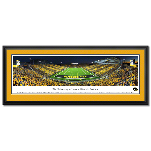 Iowa Hawkeyes Panoramic Picture - Kinnick Stadium Football - Deluxe Frame