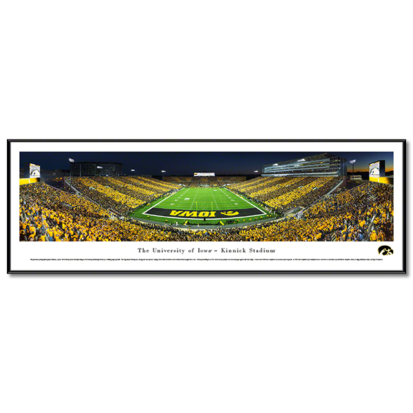 Iowa Hawkeyes Panoramic Picture - Kinnick Stadium Football - Standard Frame