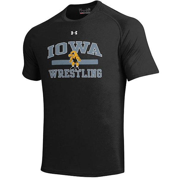 Iowa Hawkeyes Wrestling Black Tee