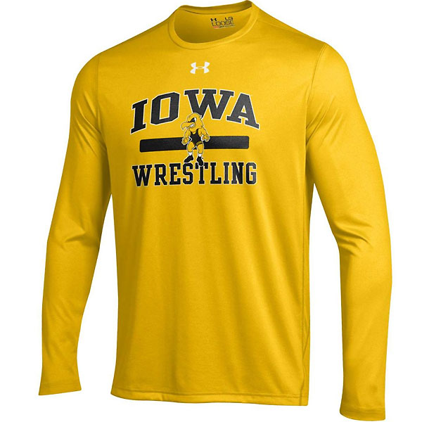 Iowa Hawkeyes Wrestling Gold Tee