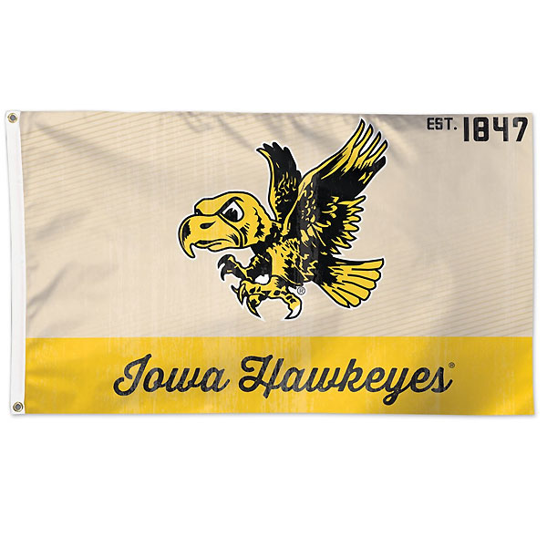 Iowa Hawkeyes 3' x 5' Vintage Flag