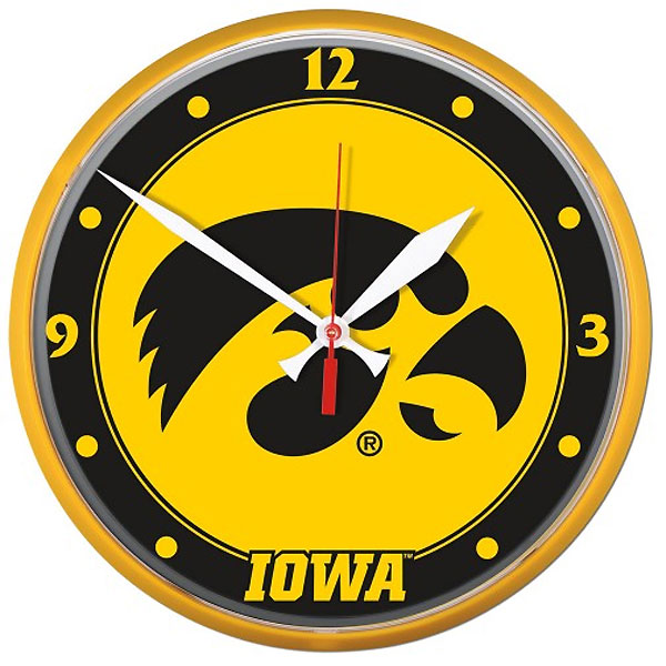 Iowa Hawkeyes Wall Clock