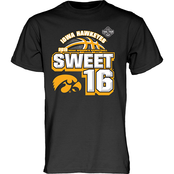 Iowa Hawkeyes Women's Basketball Sweet 16 Tee