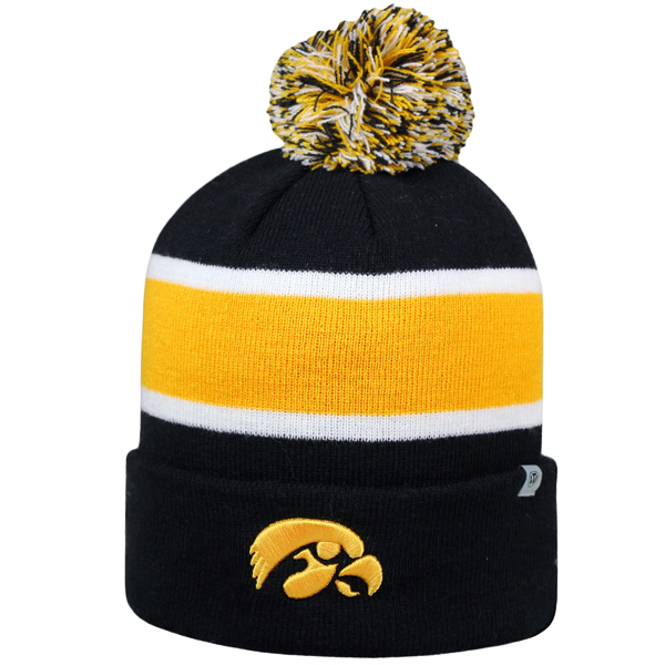 Iowa Hawkeyes Whirl Cuffed Stocking Cap