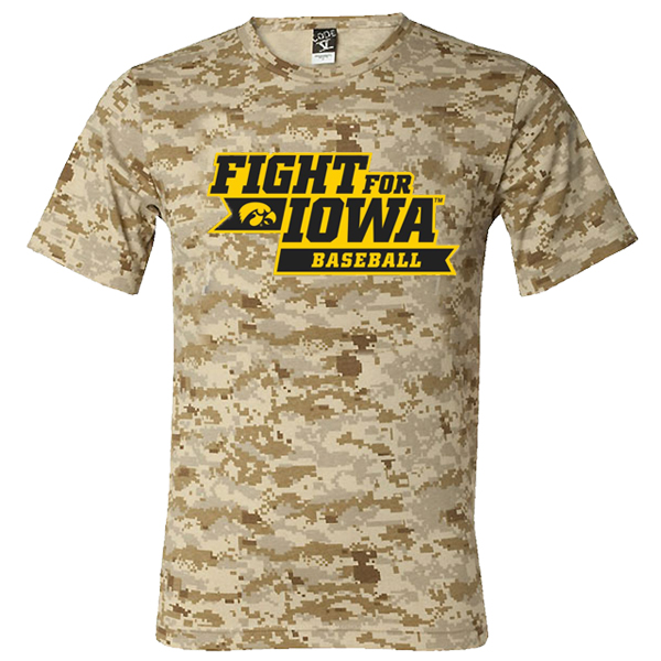 Iowa Hawkeyes Fight For Iowa Baseball Camo Tee