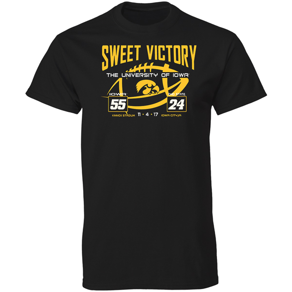 Iowa Hawkeyes 2017 Blackout Game Score Tee