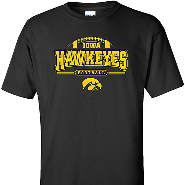 Iowa Hawkeyes FB Outline Arch Tee