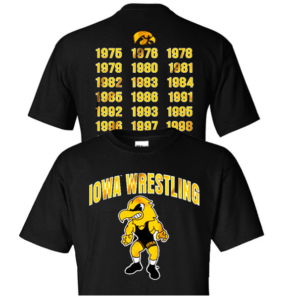 Iowa Hawkeyes Wrestling Champ Tee