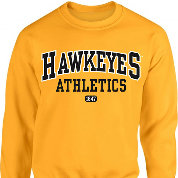 Iowa Hawkeyes Stack Crew Sweatshirt