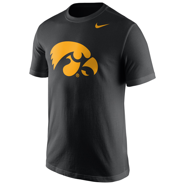 Iowa Hawkeyes Dri-Fit Cotton Tee