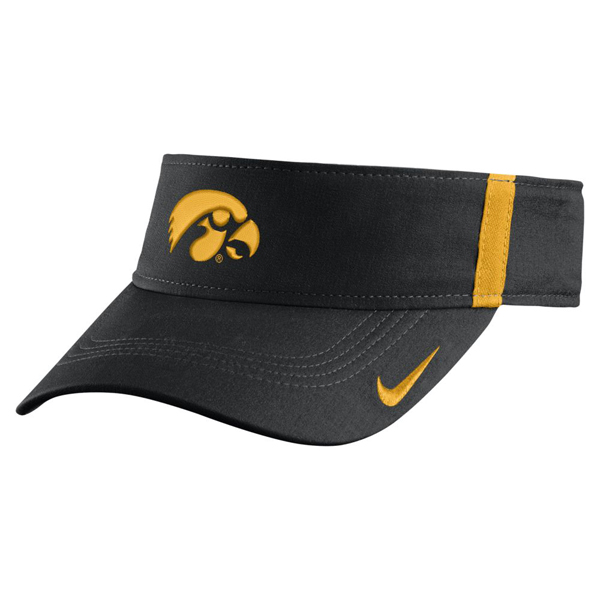 Iowa Hawkeyes Aero Bill Sideline Adjustable Visor