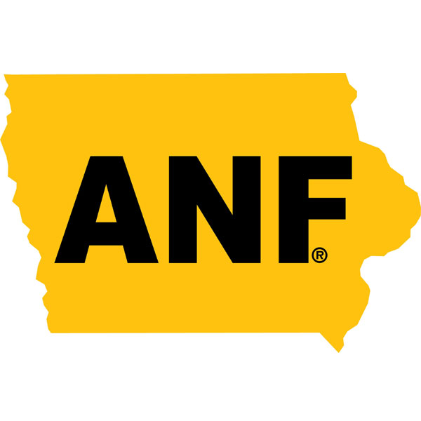 Iowa Hawkeyes ANF State Map Decal
