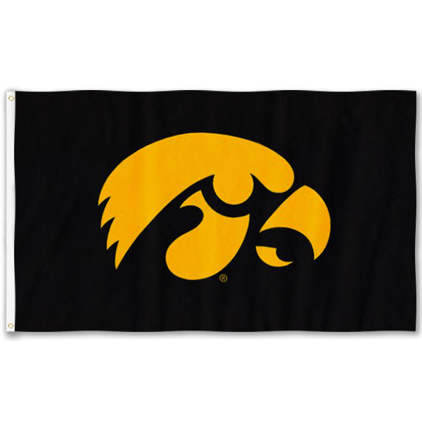 Iowa Hawkeyes 2' x 3' Logo Flag