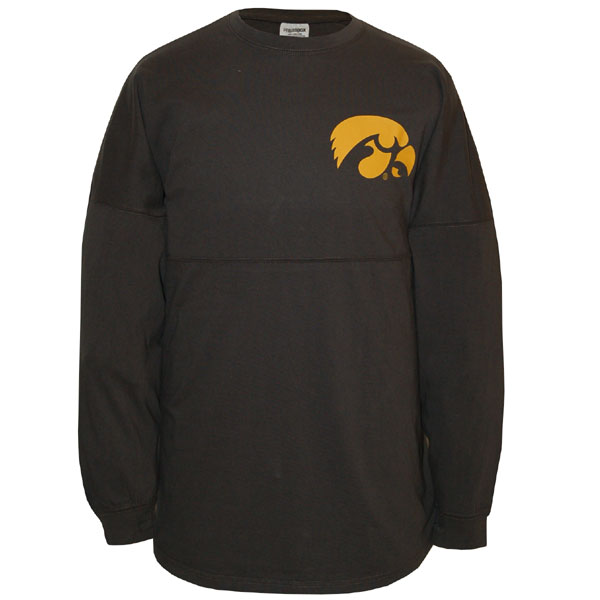 Iowa Hawkeyes Women's Outline Sweeper L/S Tee
