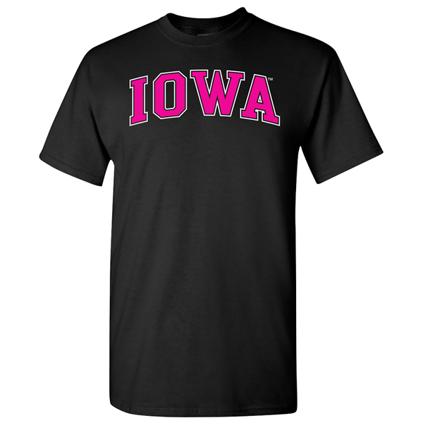 Iowa Hawkeyes Bold Arch Logo Fashion Tee
