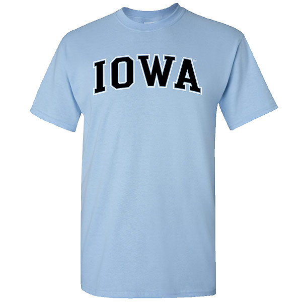 Iowa Hawkeyes Arch Tee (Light Blue)